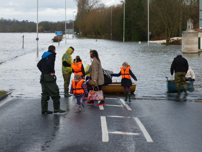 When roads become waterways. This is the A308 at Staines/Runnymede. Image.