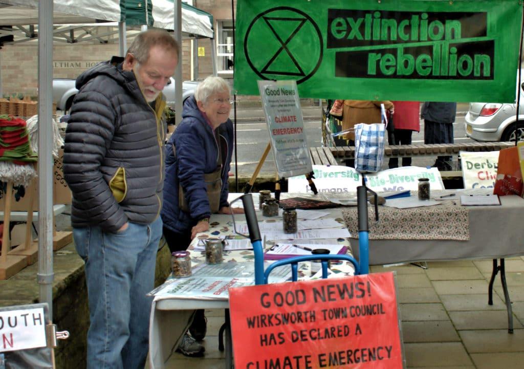 Extinction Rebellion stall
