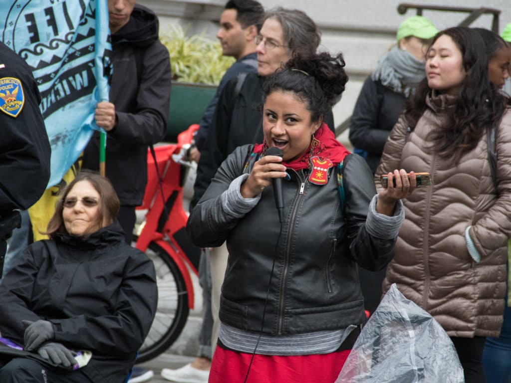 Youth with Extinction Rebellion SF Bay lead powerful rally, march and direct action